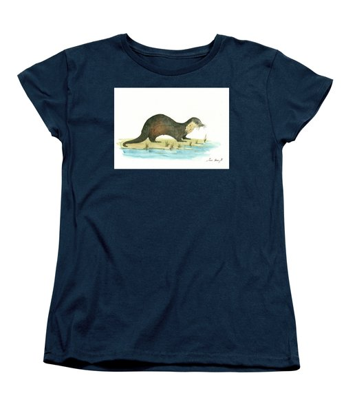 Otter Women's T-Shirt (Standard Cut) by Juan Bosco