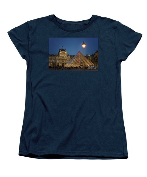 Louvre Museum At Twilight Women's T-Shirt (Standard Cut) by Juli Scalzi