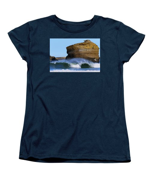 Women's T-Shirt (Standard Cut) featuring the photograph The Wave by Thierry Bouriat