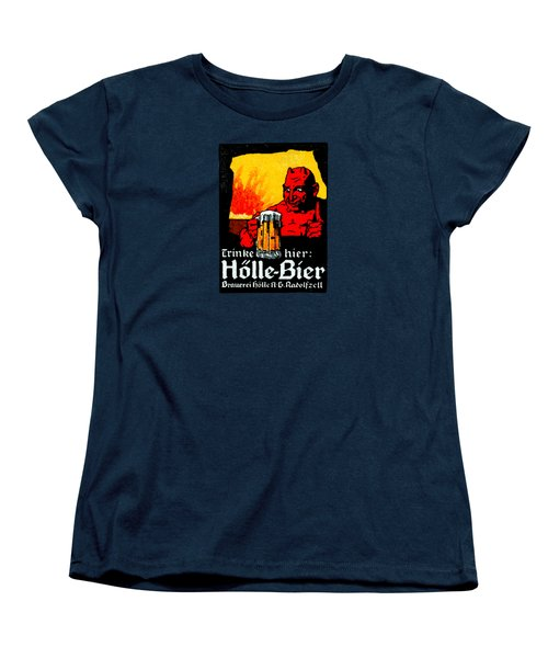 1905 German Beer Poster Women's T-Shirt (Standard Cut) by Historic Image