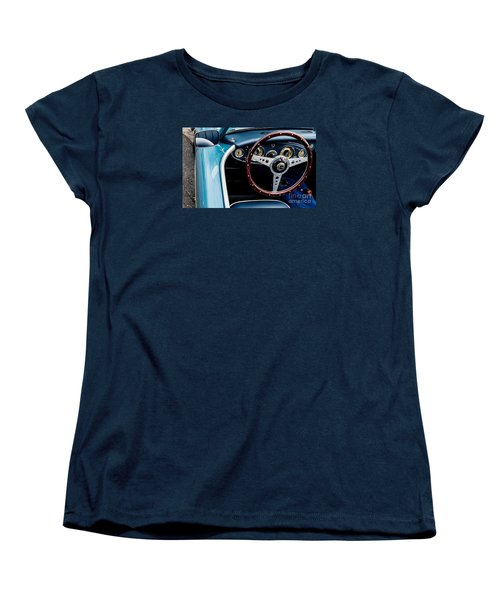 Women's T-Shirt (Standard Cut) featuring the photograph 1961 Austin Healey 3000 by M G Whittingham
