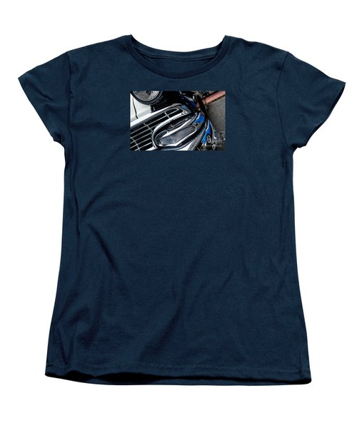 Women's T-Shirt (Standard Cut) featuring the photograph 1958 Ford Crown Victoria Reflection 2 by M G Whittingham