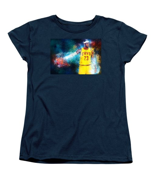 Lebron James Women's T-Shirt (Standard Cut) by Taylan Apukovska
