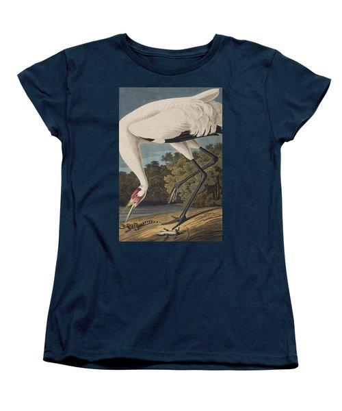 Whooping Crane Women's T-Shirt (Standard Cut) by John James Audubon