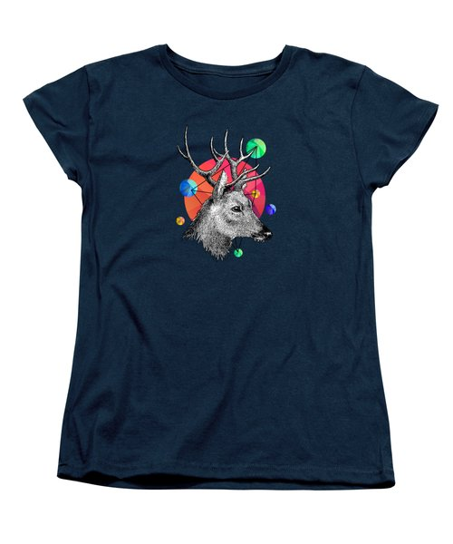 Deer Women's T-Shirt (Standard Cut) by Mark Ashkenazi