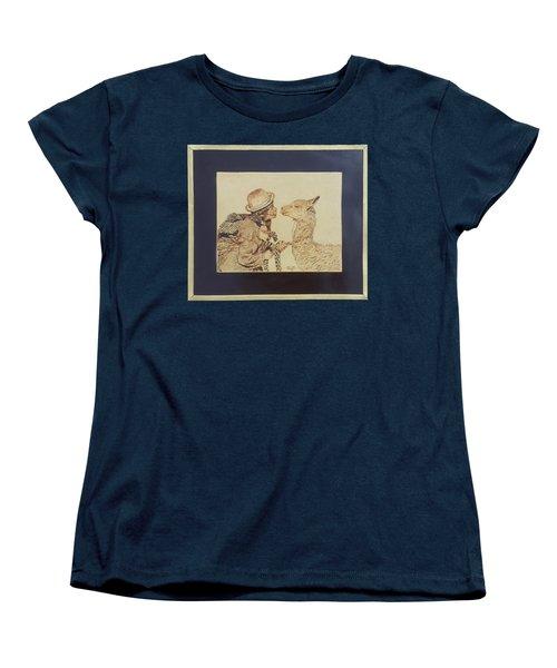 A Door To The Andean Heart Women's T-Shirt (Standard Cut) by Pamela Puch Santillan