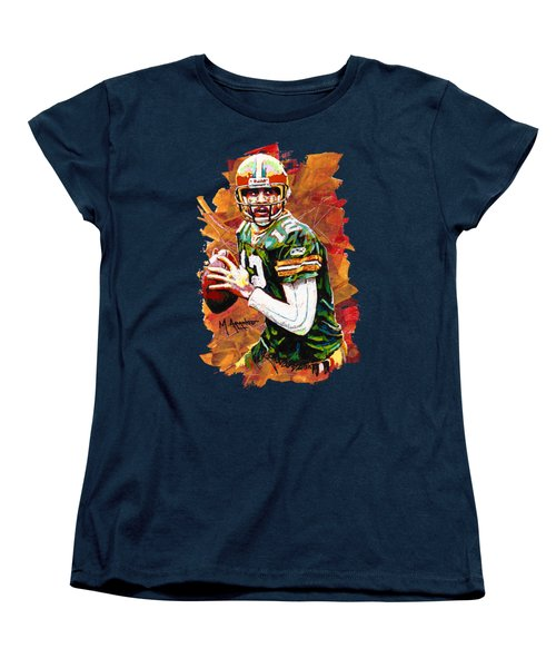 Aaron Rodgers Women's T-Shirt (Standard Cut) by Maria Arango