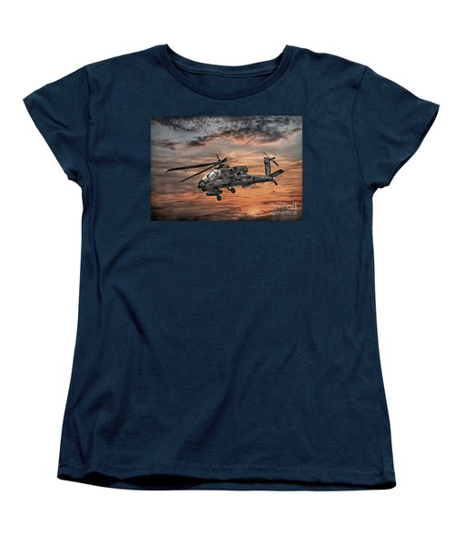 Ah-64 Apache Attack Helicopter Women's T-Shirt (Standard Cut) by Randy Steele