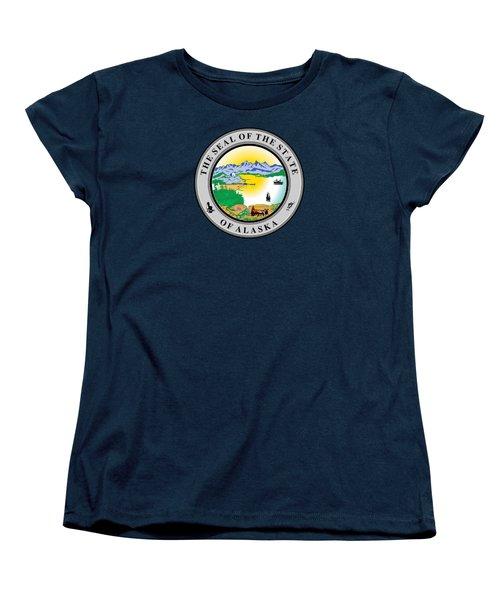 Alaska State Seal Women's T-Shirt (Standard Cut) by Movie Poster Prints