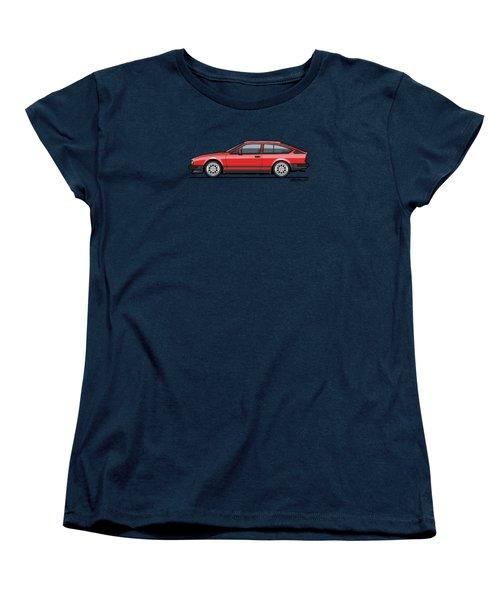 Alfa Romeo Gtv6 Red Women's T-Shirt (Standard Cut) by Monkey Crisis On Mars