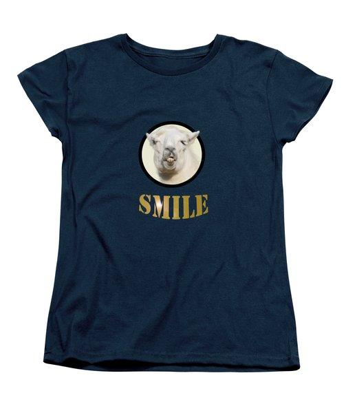 Alpaca Smile  Women's T-Shirt (Standard Cut) by Rob Hawkins