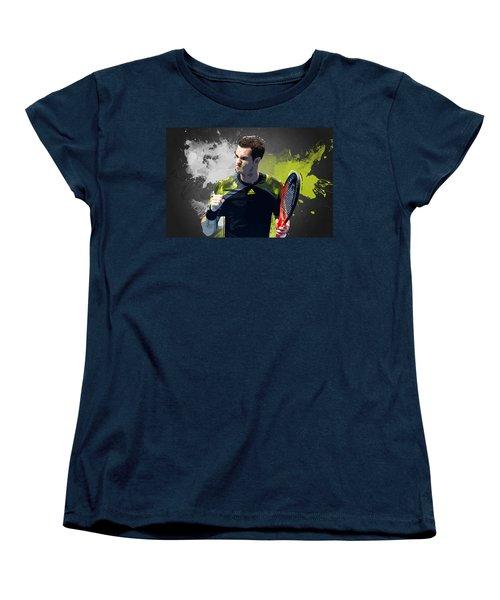 Andy Murray Women's T-Shirt (Standard Cut) by Semih Yurdabak