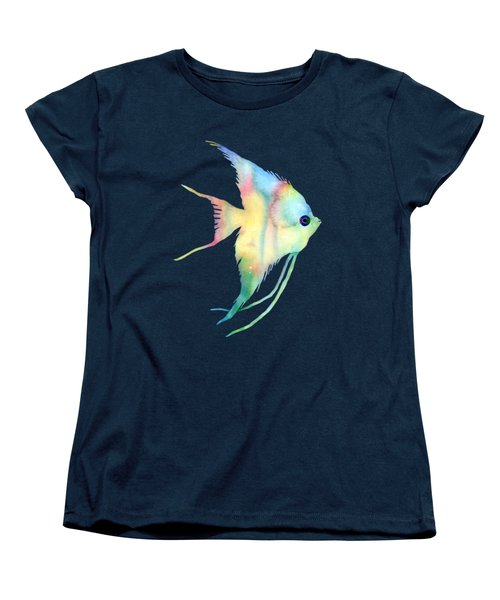 Angelfish I - Solid Background Women's T-Shirt (Standard Cut) by Hailey E Herrera