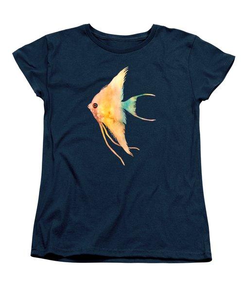 Angelfish II - Solid Background Women's T-Shirt (Standard Cut) by Hailey E Herrera