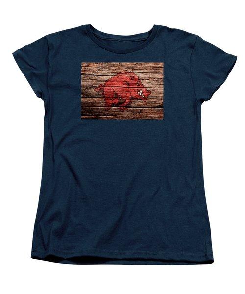 Arkansas Razorbacks Women's T-Shirt (Standard Cut) by Brian Reaves