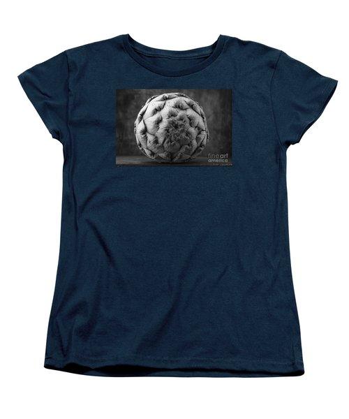 Artichoke Black And White Still Life Two Women's T-Shirt (Standard Cut) by Edward Fielding