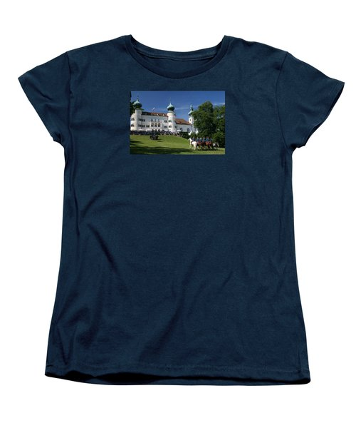 Women's T-Shirt (Standard Cut) featuring the photograph Artstetten Castle In June by Travel Pics