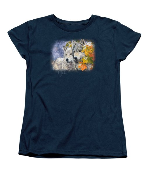Early Snowfall Women's T-Shirt (Standard Cut) by Lucie Bilodeau