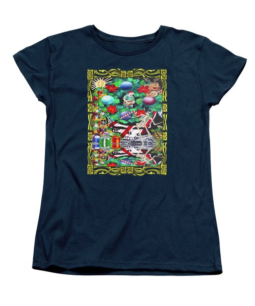 Christmas On The Moon Women's T-Shirt (Standard Cut) by Kevin J Cooper Artwork