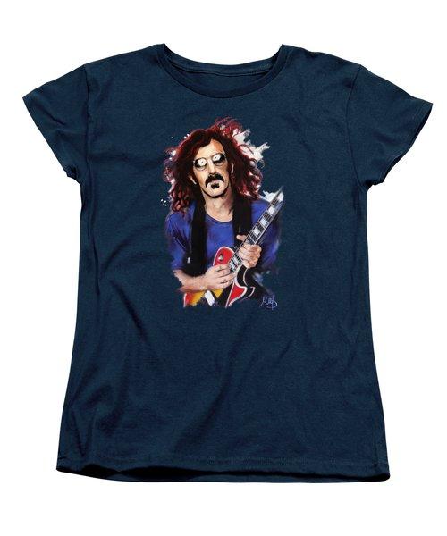 Frank Zappa Women's T-Shirt (Standard Cut) by Melanie D