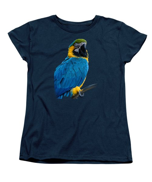 Blue Yellow Macaw No.2 Women's T-Shirt (Standard Cut) by Mark Myhaver