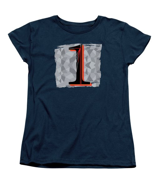 Number 1 One Women's T-Shirt (Standard Cut) by Liesl Marelli
