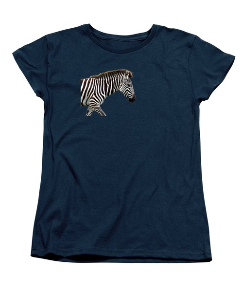 Zebra Women's T-Shirt (Standard Cut) by Aidan Moran