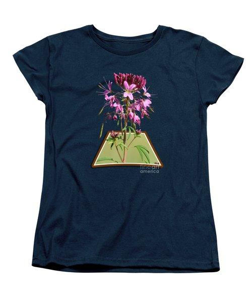 Rocky Mountain Bee Plant Women's T-Shirt (Standard Cut) by Shane Bechler