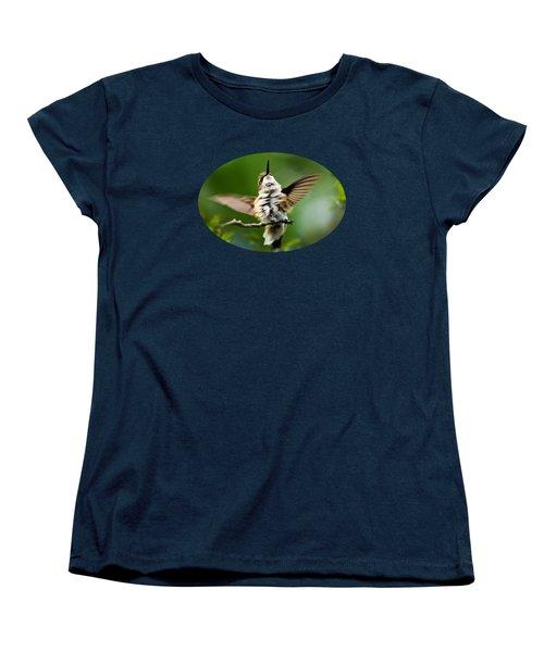 Hummingbird Happy Dance Women's T-Shirt (Standard Cut) by Christina Rollo