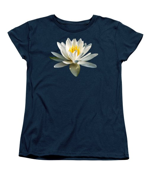 White Water Lily Women's T-Shirt (Standard Cut) by Christina Rollo