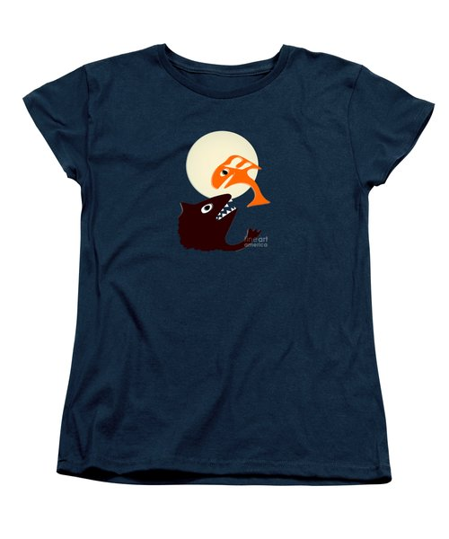 Magic Fish Women's T-Shirt (Standard Cut) by Anastasiya Malakhova