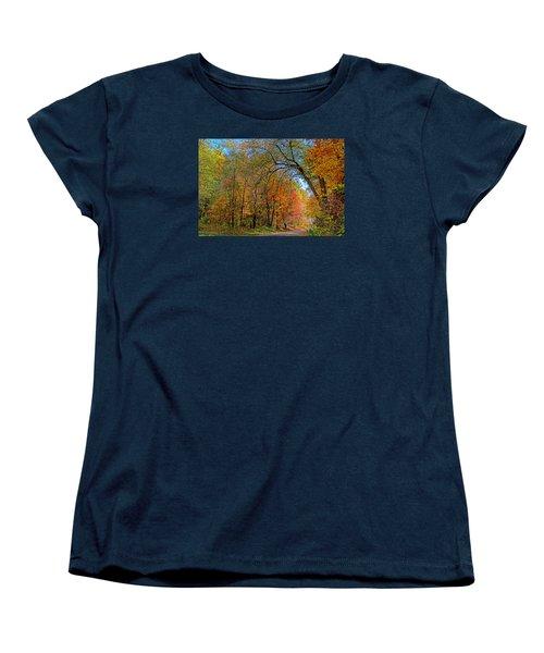 Women's T-Shirt (Standard Cut) featuring the photograph Autumn Light by Rodney Campbell