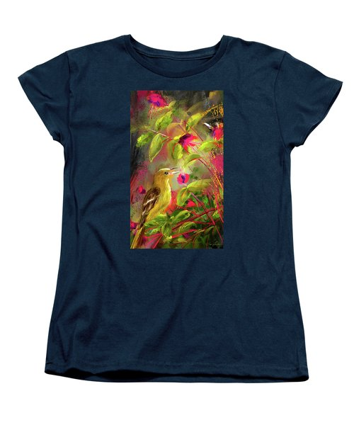 Baltimore Oriole Art- Baltimore Female Oriole Art Women's T-Shirt (Standard Cut) by Lourry Legarde
