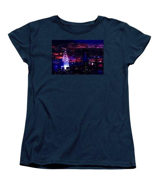 Beautiful Manhattan Skyline Women's T-Shirt (Standard Cut) by Az Jackson