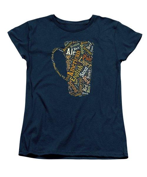 Beer Lovers Tee Women's T-Shirt (Standard Cut) by Edward Fielding