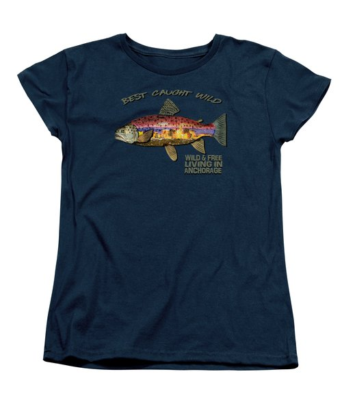 Fishing - Best Caught Wild-on Dark Women's T-Shirt (Standard Cut) by Elaine Ossipov