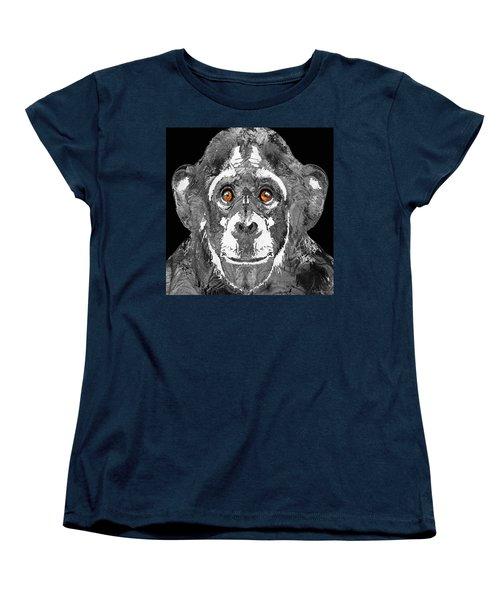Black And White Art - Monkey Business 2 - By Sharon Cummings Women's T-Shirt (Standard Cut) by Sharon Cummings