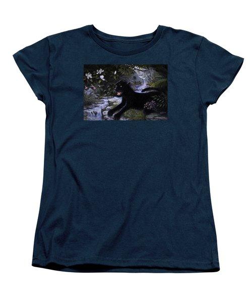 Black Panther Women's T-Shirt (Standard Cut) by Charles Kim