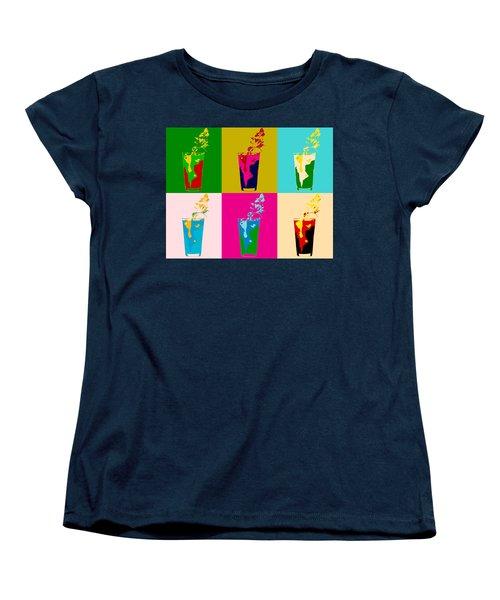 Bloody Mary Pop Art Panels Women's T-Shirt (Standard Cut) by Dan Sproul