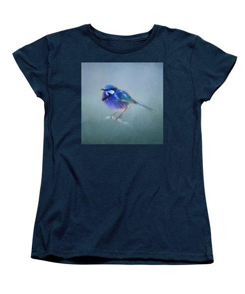 Blue Fairy Wren Women's T-Shirt (Standard Cut) by Michelle Wrighton