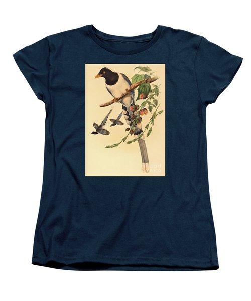 Blue Magpie, Urocissa Magnirostris Women's T-Shirt (Standard Cut) by John Gould