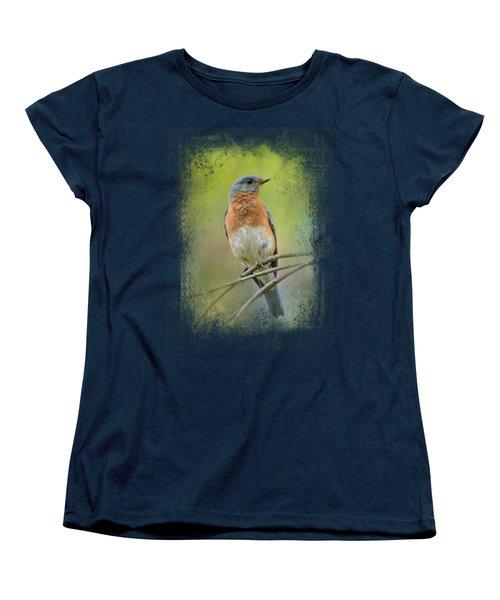 Bluebird On A Spring Day Women's T-Shirt (Standard Cut) by Jai Johnson