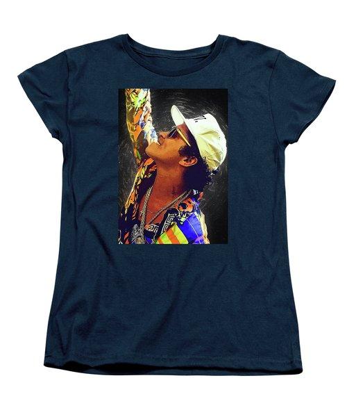 Bruno Mars Women's T-Shirt (Standard Cut) by Semih Yurdabak