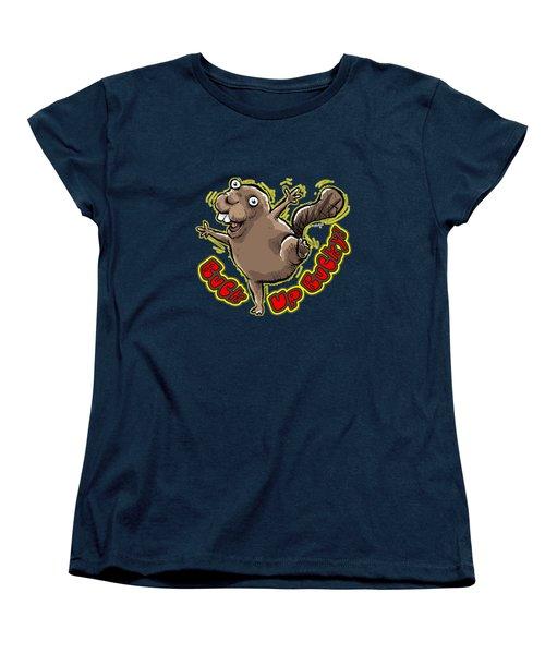 Buck Up Bucky Women's T-Shirt (Standard Cut) by Chas Sinklier