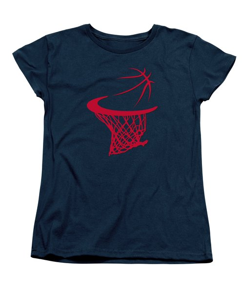 Bulls Basketball Hoop Women's T-Shirt (Standard Cut) by Joe Hamilton