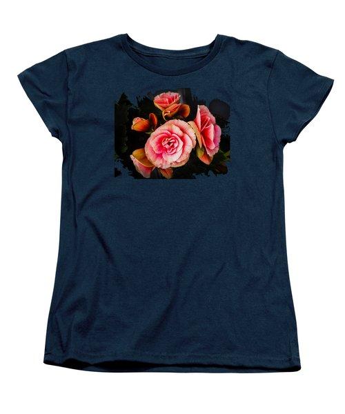 Bygone Begonias Women's T-Shirt (Standard Cut) by Jennifer Kohler
