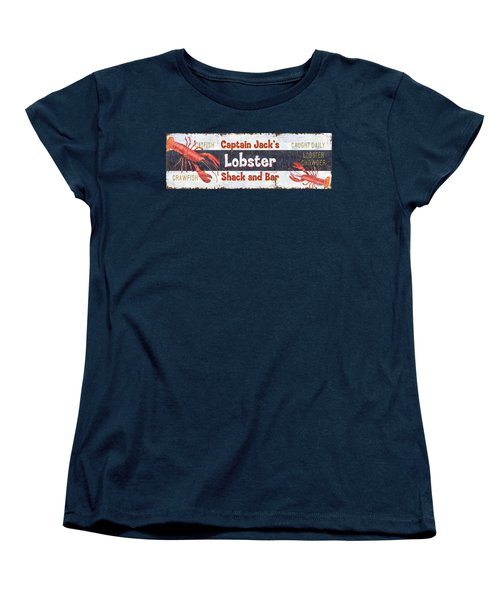 Captain Jack's Lobster Shack Women's T-Shirt (Standard Cut) by Debbie DeWitt