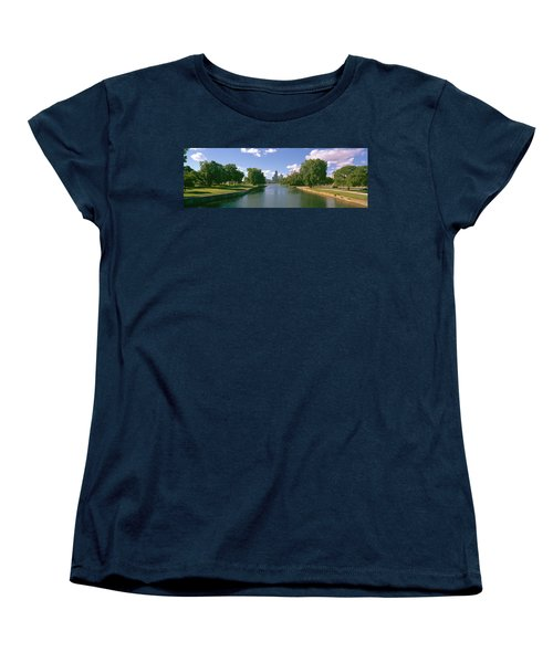 Chicago From Lincoln Park, Illinois Women's T-Shirt (Standard Cut) by Panoramic Images