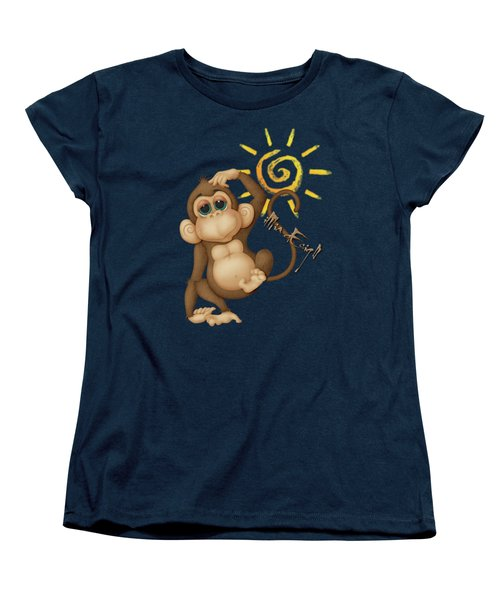 Chimpanzees, Mother And Baby Women's T-Shirt (Standard Cut) by iMia dEsigN