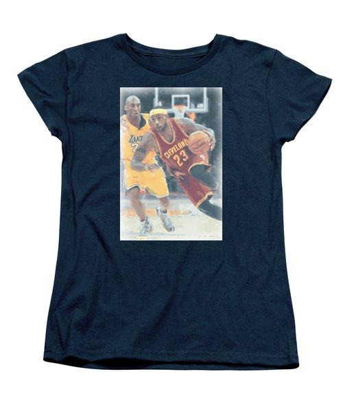 Cleveland Cavaliers Lebron James 3 Women's T-Shirt (Standard Cut) by Joe Hamilton